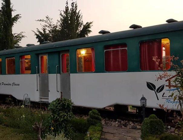 vagón iluminado
